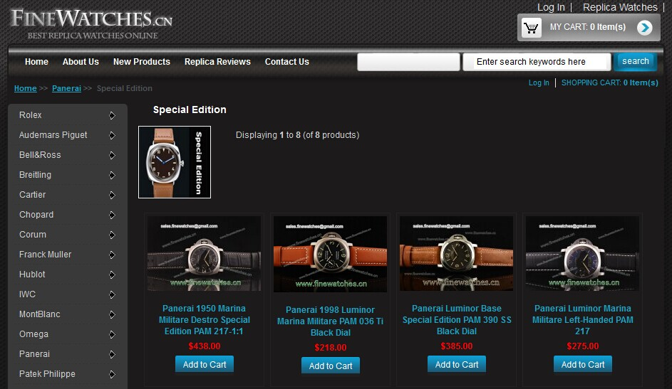 Panerai Special Editions Watches